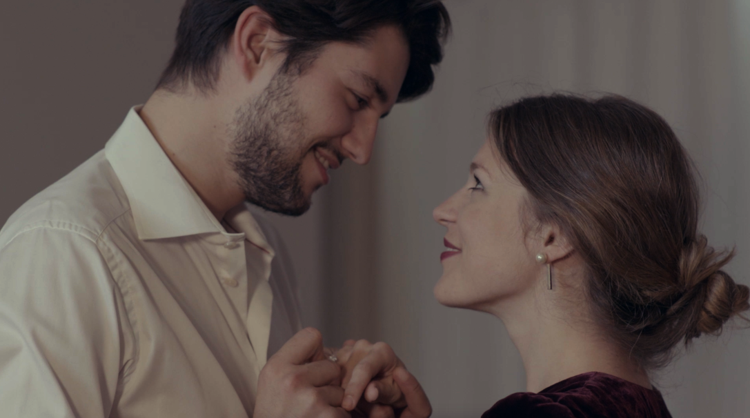 Christos Floros and Emma Louise Saunders (sourced from iMDB)